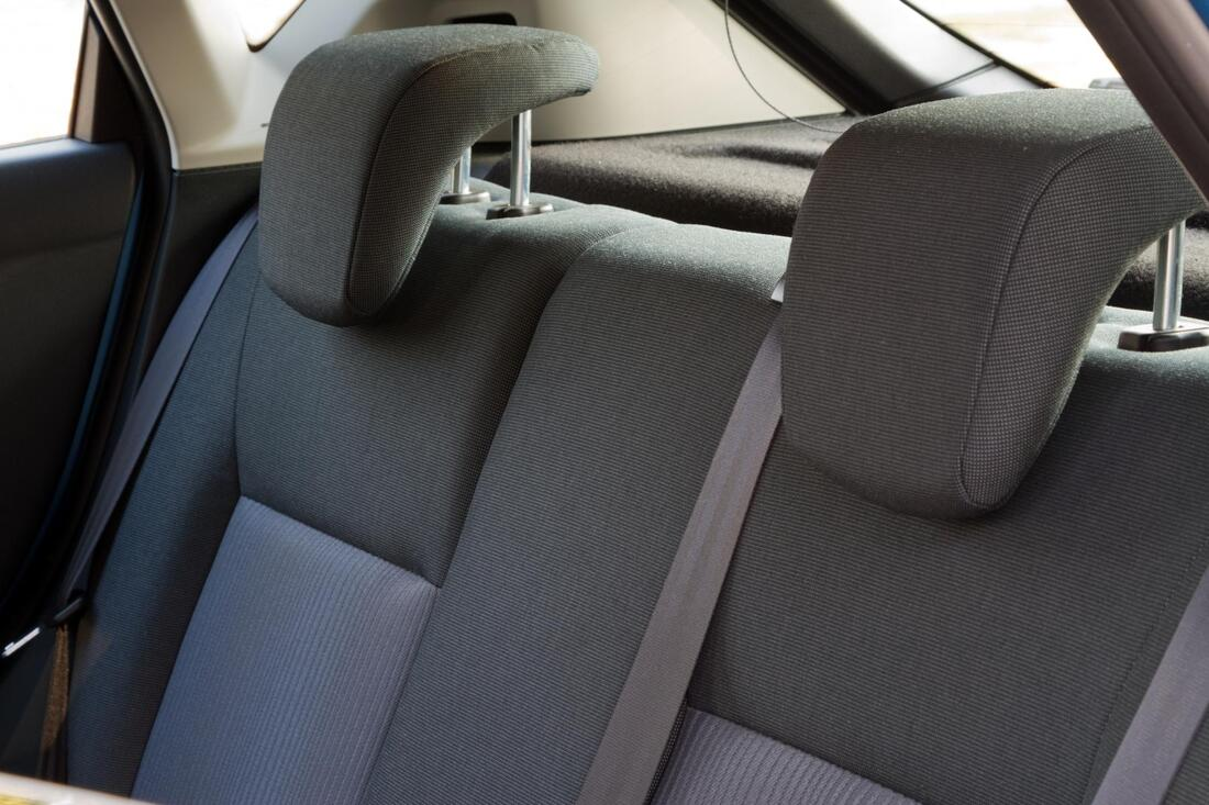 car interior back seat